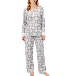NWT Nautica 2 Piece Fleece Pajama Sleepwear Set